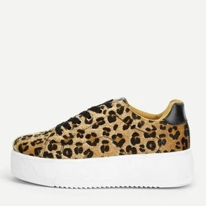 Cheetah / Leopard Lace Sneakers